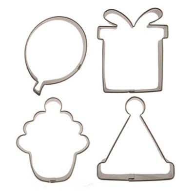 画像1: 〒 クッキー型セット4個/バースデー(ステンレス) (1)