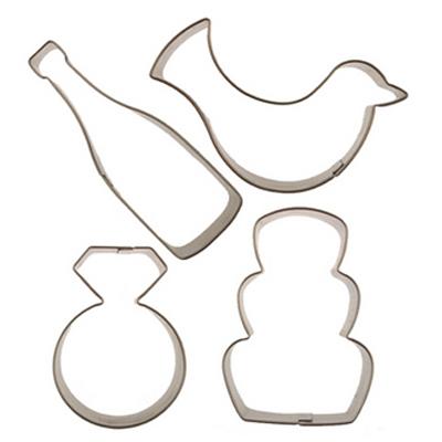 画像1: 〒 クッキー型セット4個/ウエディング(ステンレス) (1)