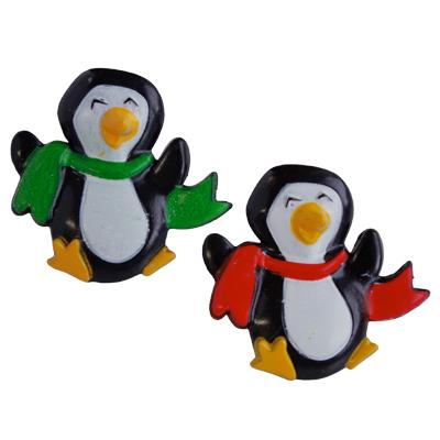 画像1: ケーキリング/マフラーをしたペンギン(6個入) (1)