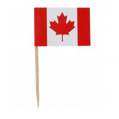 画像1: 〒 ケーキピック/カナダ国旗(6本入) (1)