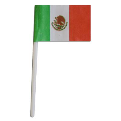 画像1: 〒 ケーキピック/メキシコ国旗(6本入) (1)
