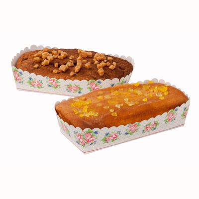 画像1: パウンドケーキ型(リボン・タグ・ビニール付)フラワー 6セット (1)