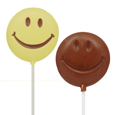 画像1: 〒 CK チョコレート型ロリポップ/ふっくらスマイル(Lサイズ) (1)