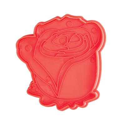 画像1: <SALE>Bakelicious クッキー型スタンプ(バネ式)バラ (1)