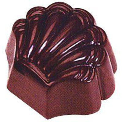画像1: ポリカーボネート製 チョコレート型/貝殻 (1)