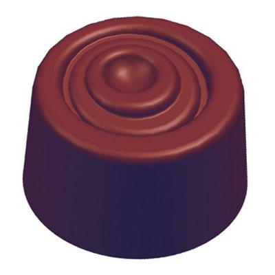 画像1: ポリカーボネート製 チョコレート型/渦巻き (1)
