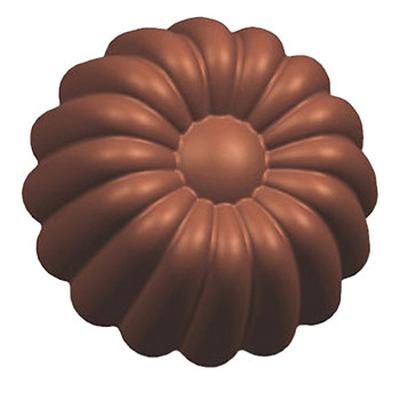 画像1: 〒 ポリカーボネート製チョコレート型/フラワー ※1個までネコポス可 (1)