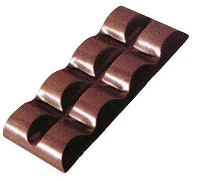 画像1: 〒 ポリカーボネート製  チョコレート型/2列チョコバー (1)