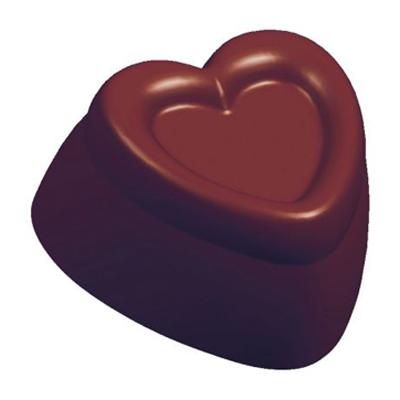 画像1: 〒 ポリカーボネート製 チョコレート型/ハート ※1個までネコポス可 (1)