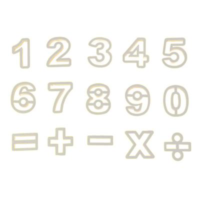画像1: クッキー型(プラスチック)数字 (1)