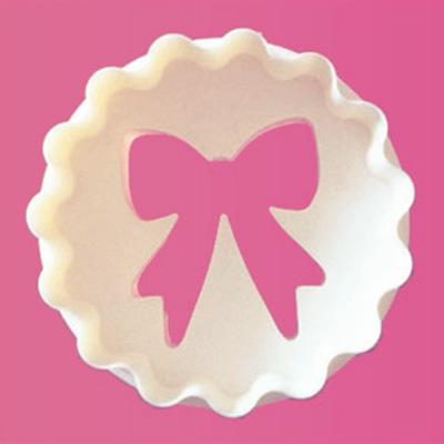 画像1: 〒 FMM カップケーキカッター/リボン×ぶるぶる丸型 (1)
