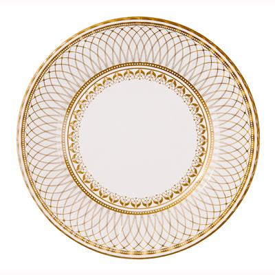 画像1: 紙皿(27cm)ゴールド (1)