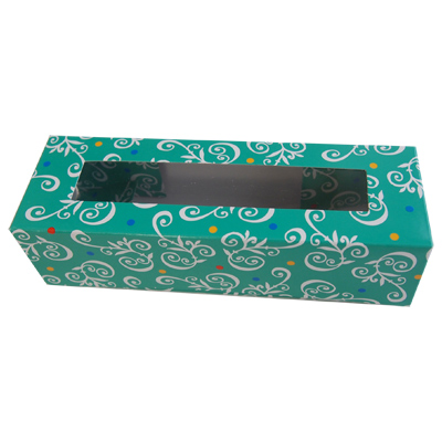 画像1: 長方形ギフトボックス/ ペイズリーグリーン(3個入り) (1)