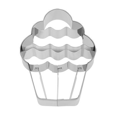 画像1: 〒 クッキー型(BIRKMANN)ふりふりカップケーキ【ステンレス】 (1)
