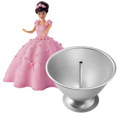 画像1: Wilton ケーキ型/ドールケーキドレス型&人形セット (1)
