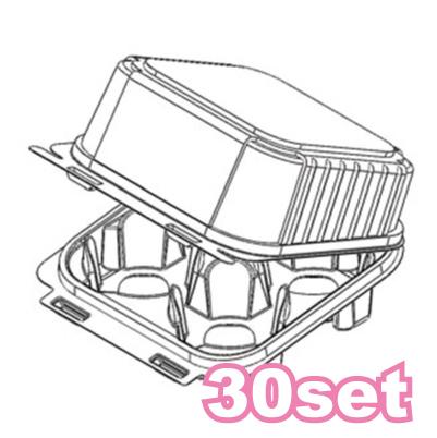 画像1: カップケーキプラケース/4個用(トール)30枚入 (1)