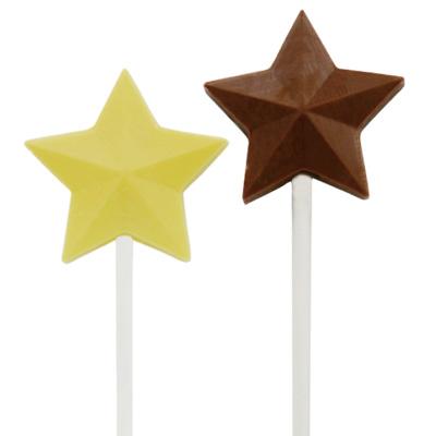 画像1: 〒 CK チョコレート型ロリポップ/スター (1)