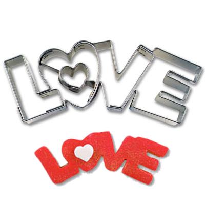 画像1: 〒 クッキー型(Stadter)LOVE文字 (1)