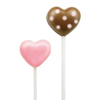 画像1: 〒 CK チョコレート型ロリポップ/ふっくらハート5 (1)