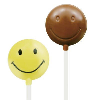 画像1: 〒 CK チョコレート型ロリポップ/スマイル (1)