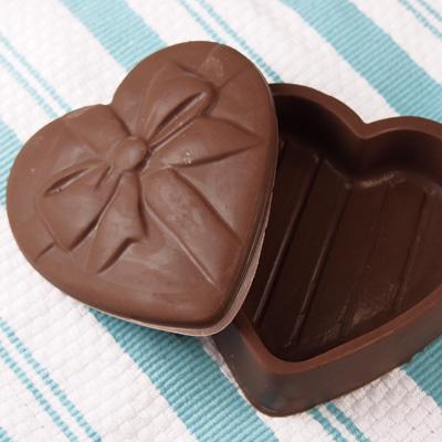 画像1: 〒 CK チョコレート型BOX/ハートリボン (1)