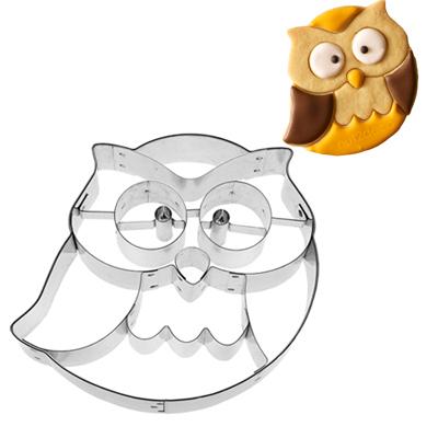 画像1: 〒 クッキー型(BIRKMANN)フクロウ【ステンレス】 (1)