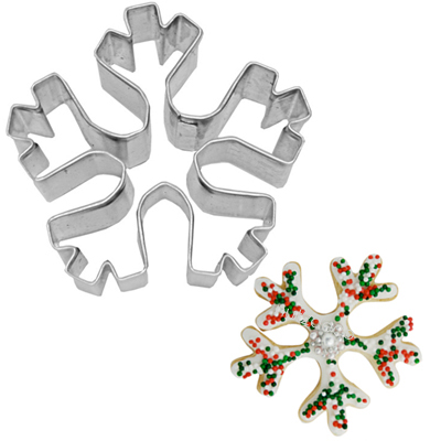 画像1: 〒 クッキー型(BIRKMANN)雪の結晶(角)5cm【ステンレス】 (1)