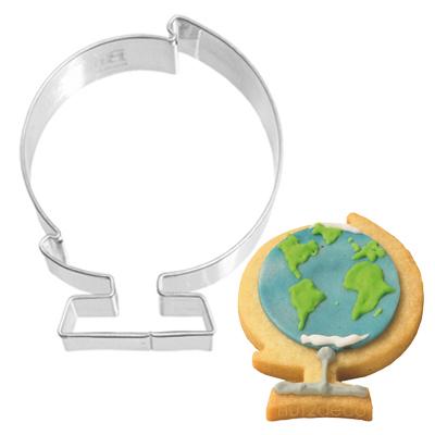 画像1: 〒 クッキー型(BIRKMANN)地球儀【ステンレス】 (1)