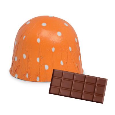 画像1: 〒 チョコレートホイル(300枚入)ドット/オレンジドット <L> (1)