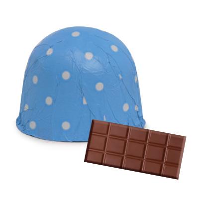 画像1: 〒 チョコレートホイル(300枚入)ドット/ブルー <L> (1)