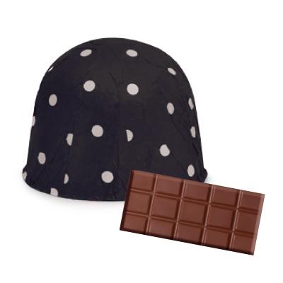 画像1: 〒 チョコレートホイル(300枚入)ドット/ブラック<L> (1)