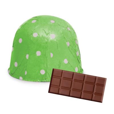 画像1: 〒 チョコレートホイル(300枚入)ドット/グリーン <L> (1)