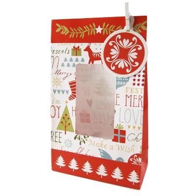 画像1: Table Fun クッキーバッグ/Be Merry クリスマス 4枚セット (1)