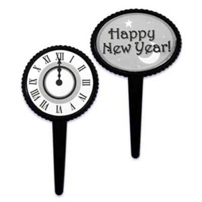 画像1: 〒 ケーキピック/HAPPY NEW YEAR (2種6本入) (1)