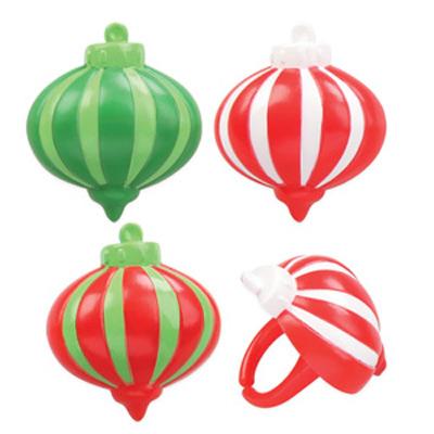 画像1: ケーキリング/クリスマスオーナメント(3種6個入) (1)
