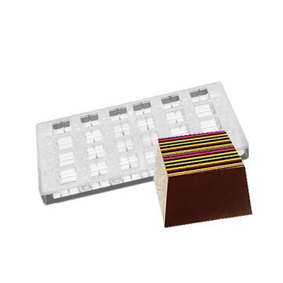 画像1: ポリカーボネート製  チョコレート型(マグネット)スクエア (1)