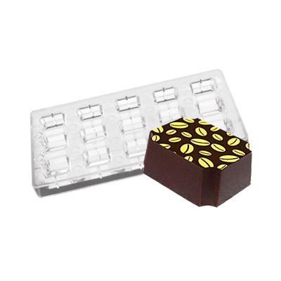 画像1: ポリカーボネート製  チョコレート型(マグネット)インデンティッドコーナー (1)