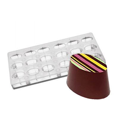 画像1: ポリカーボネート製  チョコレート型(マグネット)オーバル(楕円) (1)
