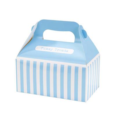 画像1: ケーキボックス(4枚入)ブルー (1)