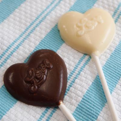 画像1: 〒 CK チョコレート型ロリポップ/ふっくらハートLove (1)