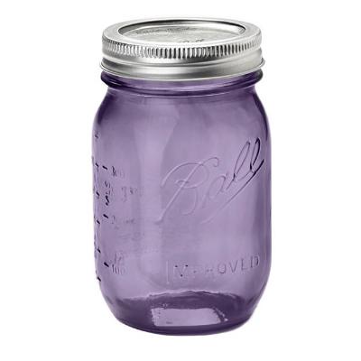 画像1: Ball 瓶(メイソンジャー)16oz/パープル(レギュラー蓋) (1)