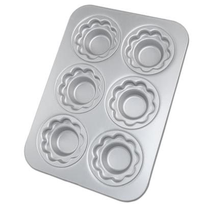 画像1: キノコ型クラウンマフィンパン(フラワー) 6穴 (1)