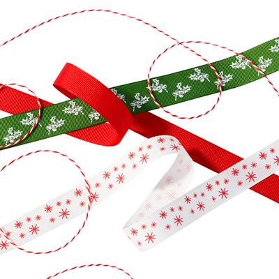 画像1: 〒 リボンセット/ホリークリスマス (1)