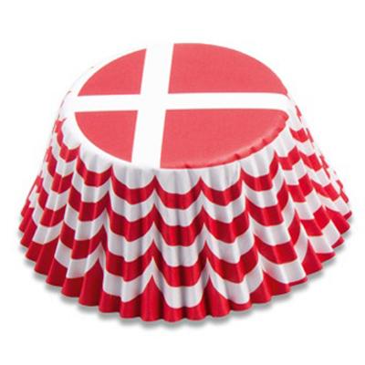 画像1: Stadter ベーキングカップ(50枚)デンマーク国旗 (1)
