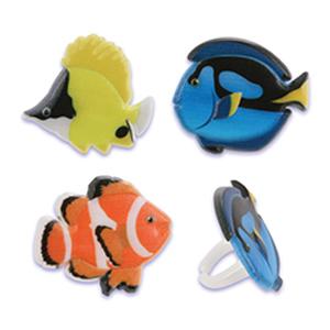 画像1: ケーキリング/熱帯魚(6個入) (1)
