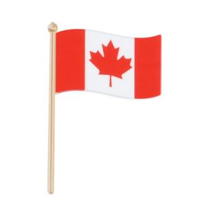 画像1: 〒 ケーキピック/カナダ国旗(5本入) (1)