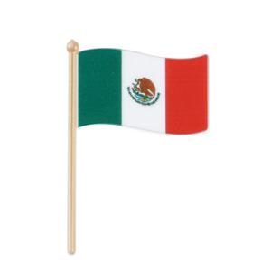 画像1: 〒 ケーキピック/メキシコ国旗(5本入) (1)