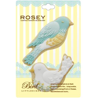画像1: 〒 クッキー型(ROSEY)小鳥セット【ステンレス】 (1)