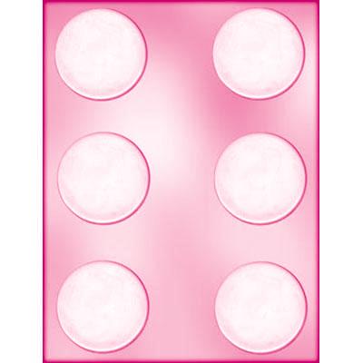 画像1: 〒 CK チョコレート型/平べったい丸型5.4cm (1)