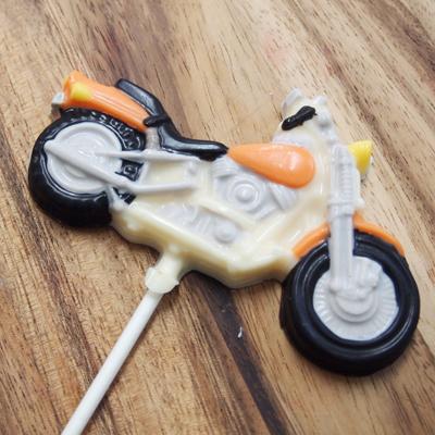 画像1: 〒 CK チョコレート型ロリポップ/バイク (1)